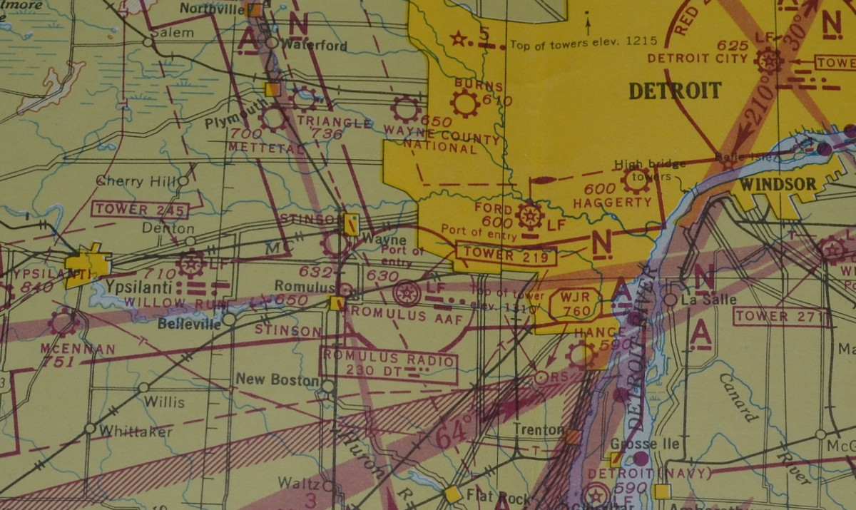 westin s stinson 108 page stinson field is just south and a little west of wayne mi what is shown as romulus army air forces aaf is now called detroit metropolitan wayne