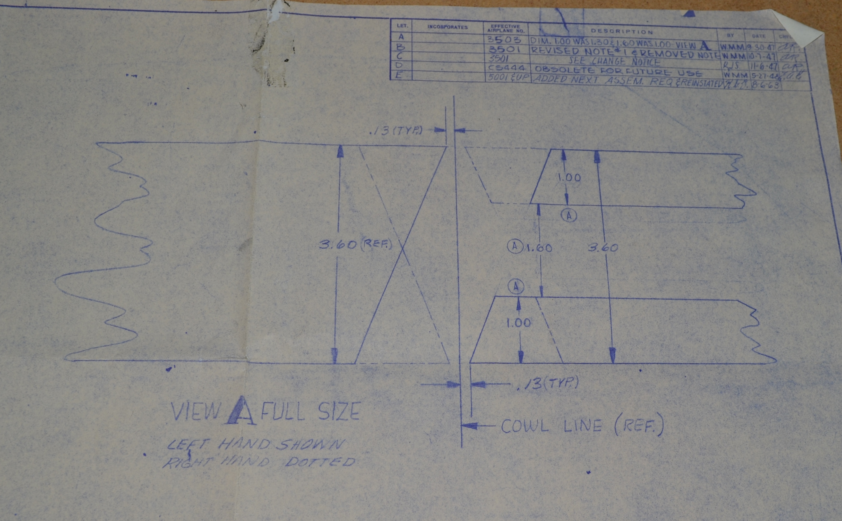 Westins Stinson 108 Page 1940s 3 Way Switch Wiring Diagram Note The Stripe Angle Is Different Between Left And Right Sides Of Airplane About 11m Fourth Part 4 Section B Detail No Lift Lettering On