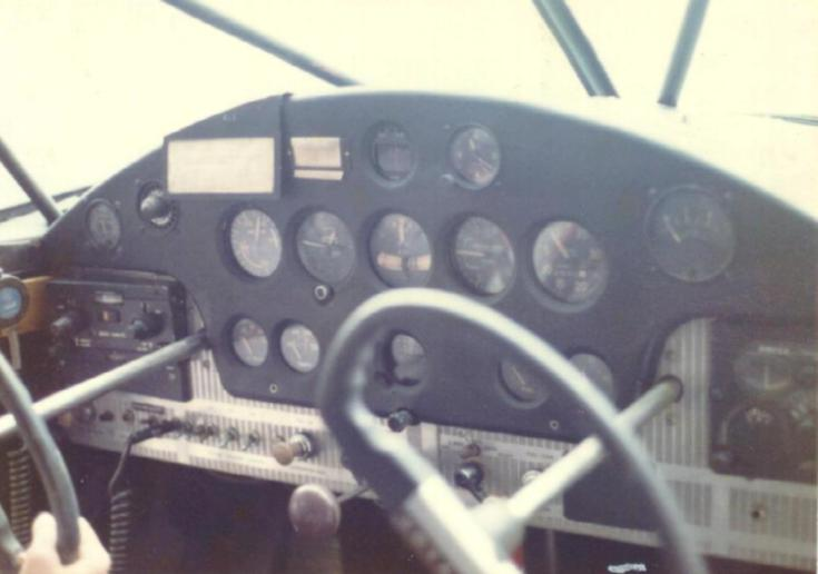 westin s stinson 108 restoration page instrument panel as purchased